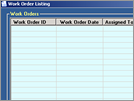 Contractor Management System : Work Order List