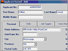Work-Smart : Applicant Input Form (Windows Version)